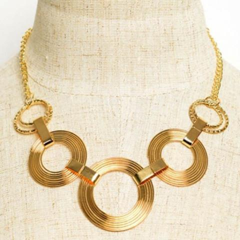 Tanya's Bath and Body Circle Link Necklace in Silver or Gold Circle Link Necklace in Gold