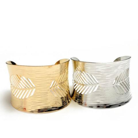 Tanya's Bath and Body Cuff Leaf Bracelet in Silver or Gold Cuff Leaf Bracelet in Silver or Gold