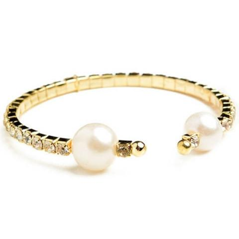 Tanya's Bath and Body Gold Bracelet with Pearl Accent Gold Bracelet with Pearl Accent