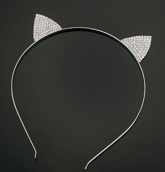 Tanya's Bath and Body headband Crystal Cat Ears Headband