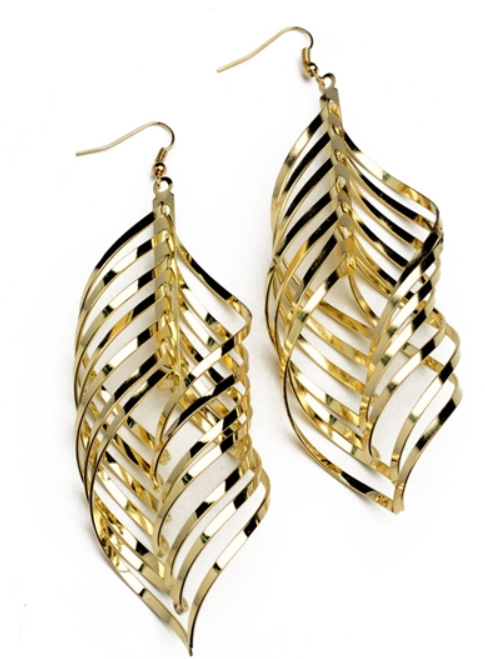 Tanya's Bath and Body Layered Drop Gold Earrings Layered Drop Gold Earrings