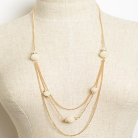 Tanya's Bath and Body Link Layer Necklace with Stones in Silver or Gold Link Layer Necklace with Stones in Silver or Gold