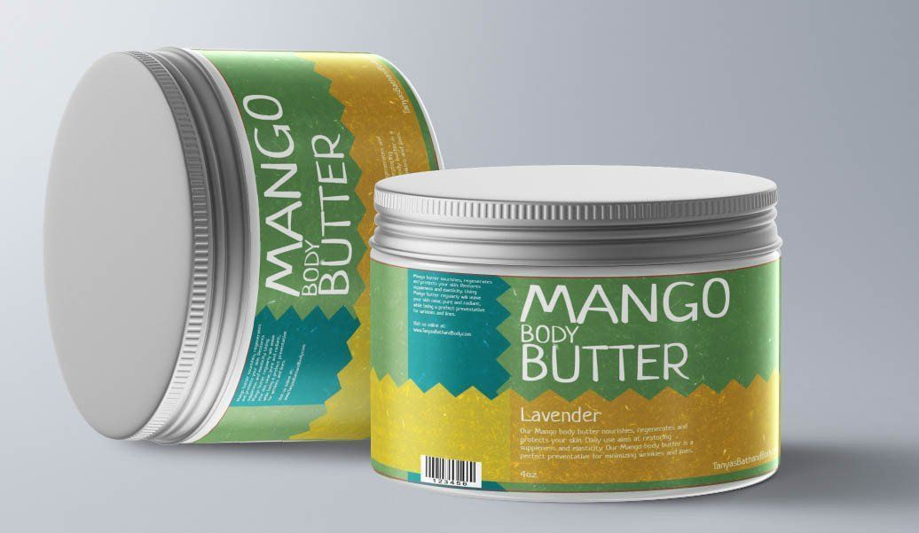 Tanya's Bath and Body Mango Body Butter Mango Body Butter, Soothing, Body Butter, Restores Skin Elasticity for Younger Looking Skin