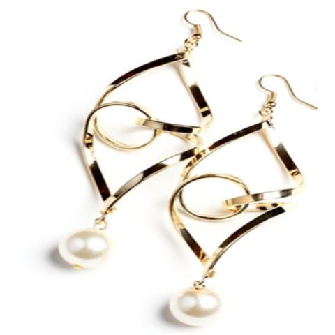 Tanya's Bath and Body Pearl Drop Earrings in Silver or Gold Pearl Drop Earrings in Silver or Gold