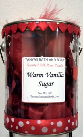 Tanya's Bath and Body Valentine Day Gift Scented Rose Petals in Paint Can Valentine Day Gift Scented Rose Petals