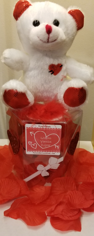 Tanyas Bath and Body| Top Quality Organic African SHEA Butter! | Chicago Valentine Day Gift Scented Rose Petals with Teddy Bear