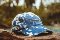 "Expertise ""Acid Wash/Distressed"" Strapback - Light Denim/Gold"