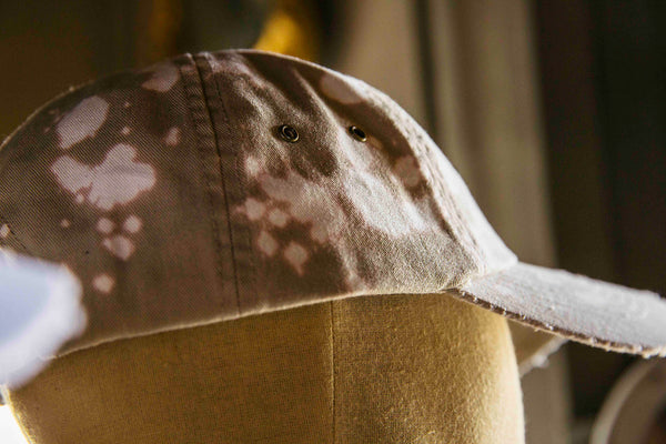 "Expertise ""Acid Wash/Distressed"" Strapback - Tan/Black"