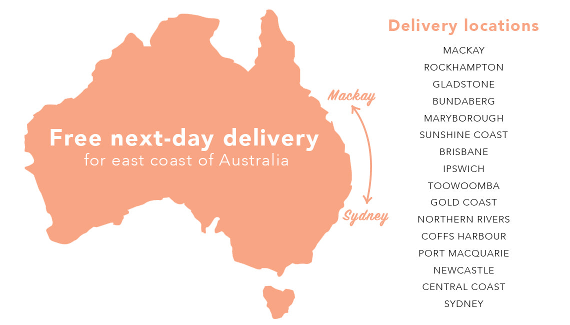 Central Coast Australia Map.Flower Haul Delivery Locations Fresh Flowers With Free Delivery