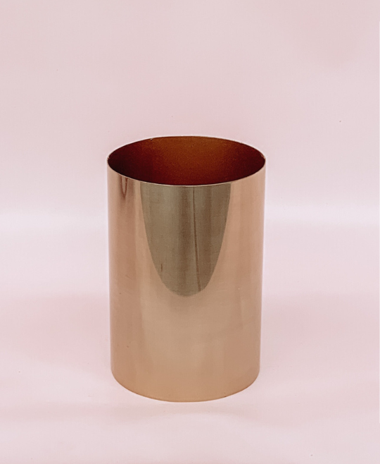 ADD: GOLD BRASS VASE