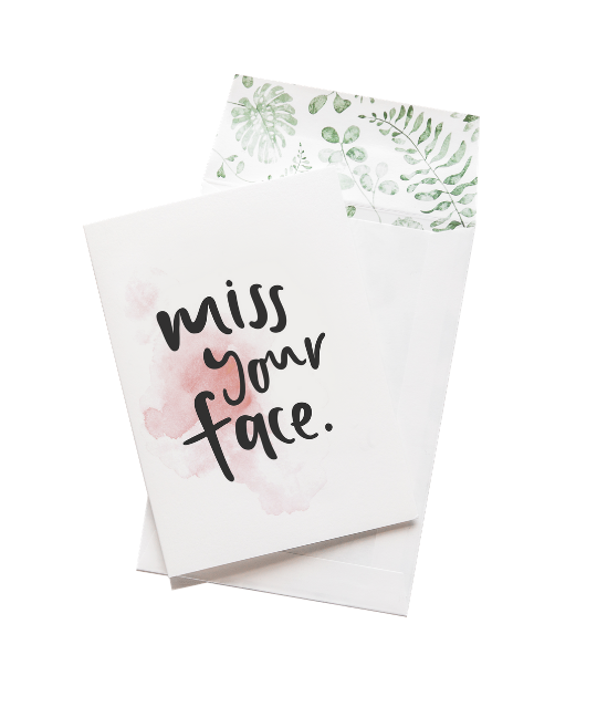 ADD: 'MISS YOU' CARD