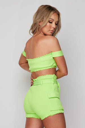 Ella Buckle Rib Short Set