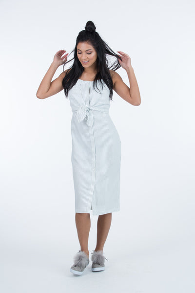 Layla Knotted Front Button Down Dress