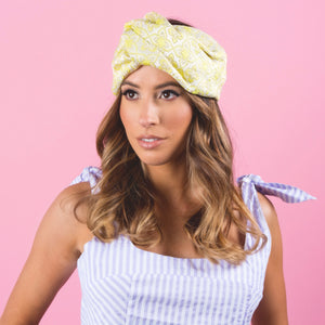 ANKI YELLOW/WHITE TURBAN