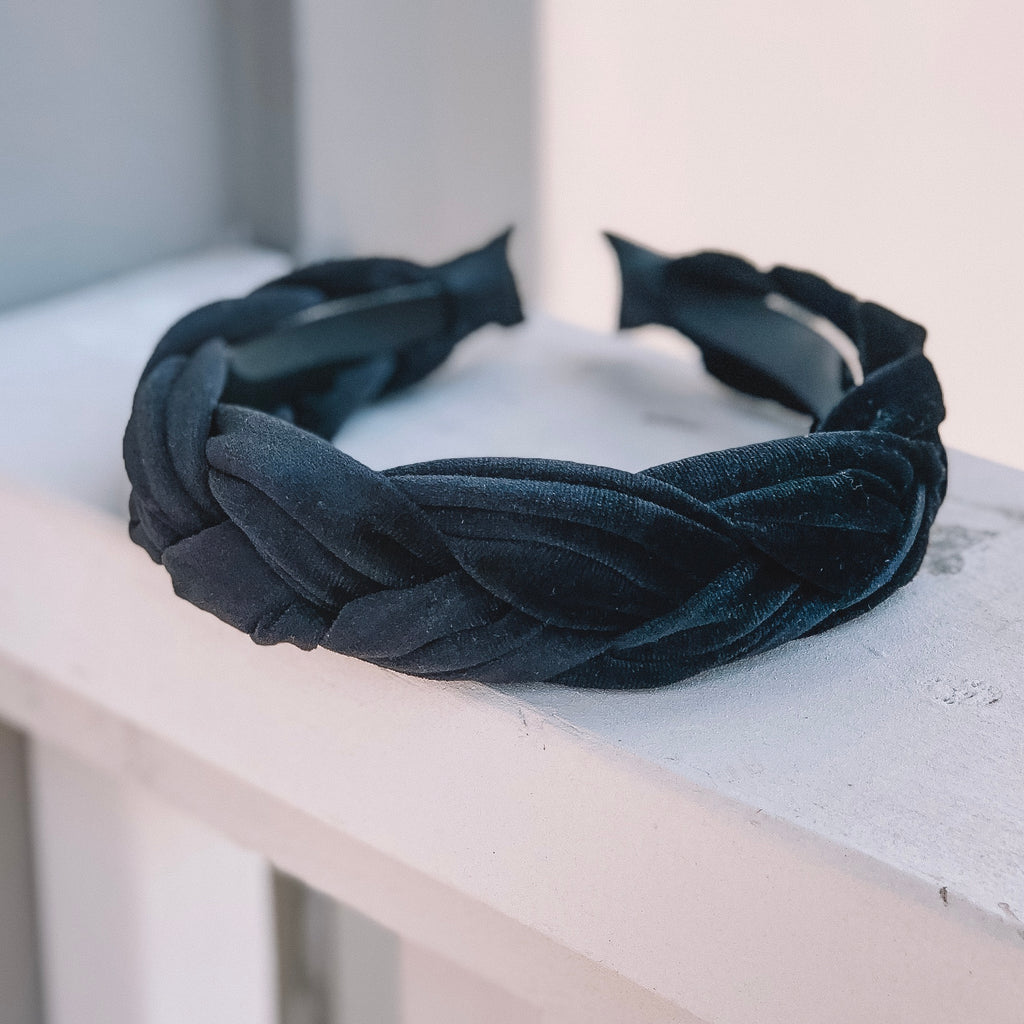 Francheska Black Headband