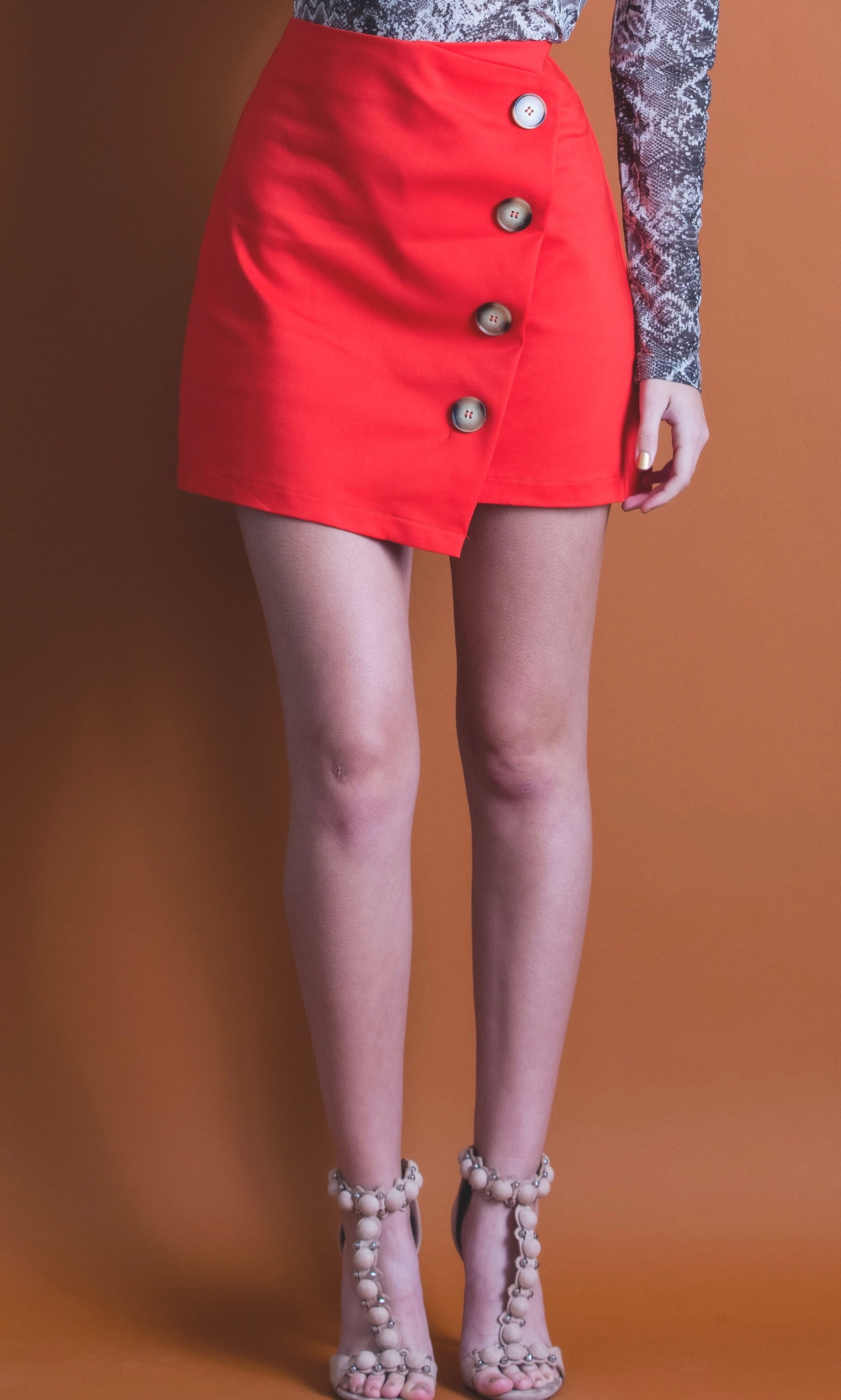 Asymetric Wrap Skirt