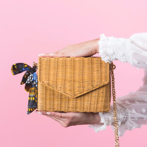 ANKI SQUARE BAMBOO CLUTCH