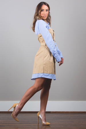 Trench Shirt Dress