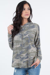 Kendra Hood French Terry Camo Shirt