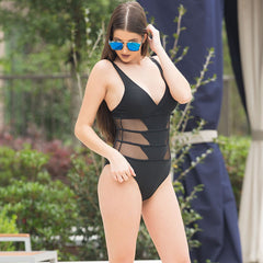 Teresa Mesh-Black Swimsuit