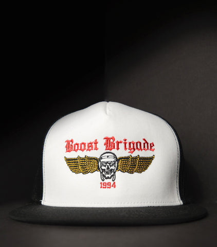 Brigade Wing Trucker - White/Black