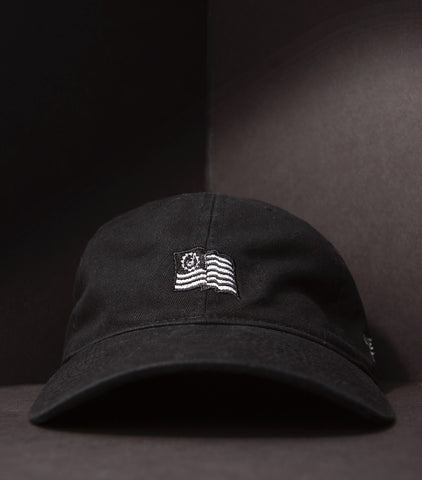 Flag Dad Hat - Black