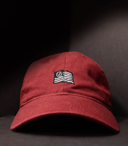 Flag Dad Hat - Burgundy