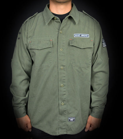The Statement Shirt Jacket - Olive