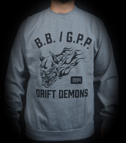 DRIFT DEMONS 2.0 CREWNECK - HEATHER GRAY