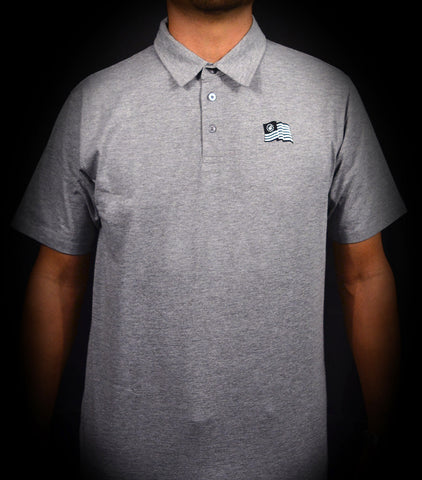 WAVY POLO - HEATHER GRAY