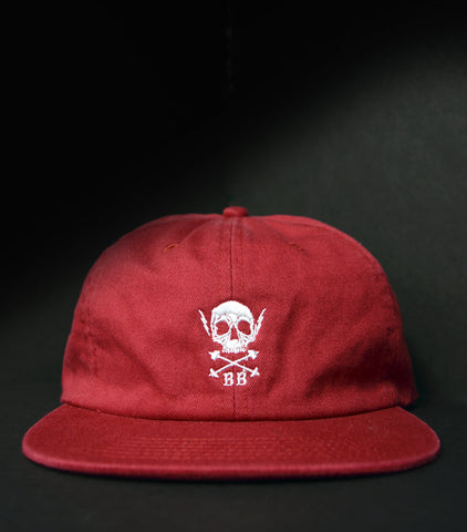 Skull Unstructured Hat - Cardinal