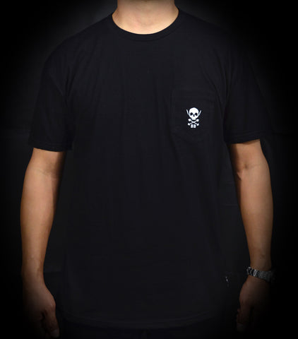 Skull Pocket Tee - Black