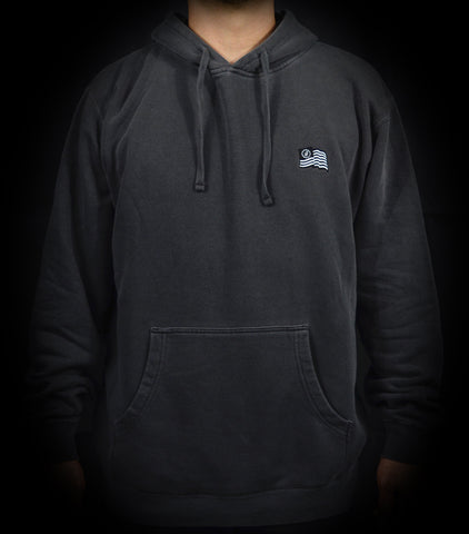 Wavy Pullover Hood - Washed Black