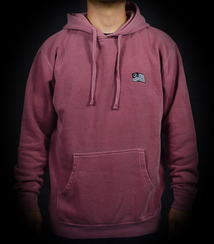 Wavy Pullover Hood - Washed Burgundy