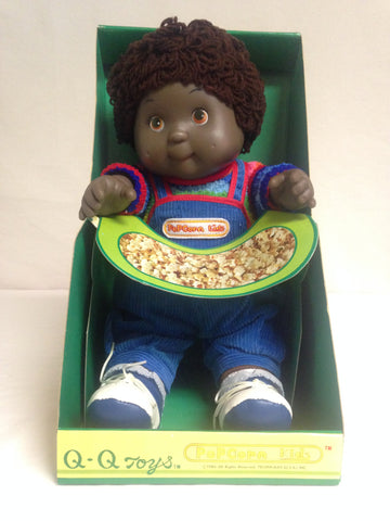 002 QQ Popcorn Doll 1984, Black Doll, Cabbage Patch Knock Off, NRFB - Colleen's Attic - 1