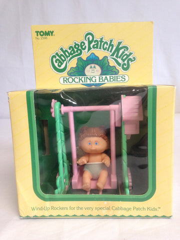 022 Tomy 1983 Cabbage Patch Rocking Babies Brown Hair, ROTPCT - Colleen's Attic - 1