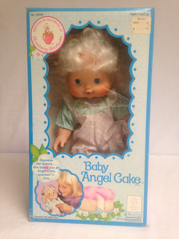 031 Kenner 1982 Strawberry Shortcake Baby Angel Cake Blow Kiss - Colleen's Attic - 1