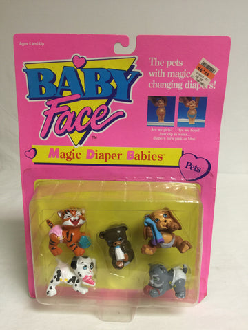 053 Galoob, 1993, Baby Face Magic Diaper Babies Pets - Colleen's Attic - 1