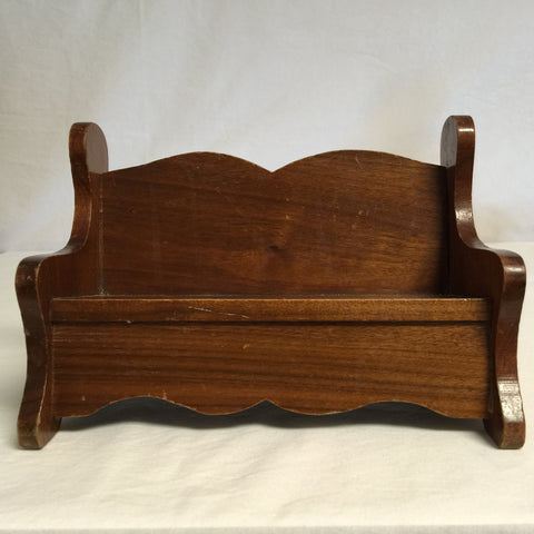 078 Doll Furniture, Wooden Bench, Used - Colleen's Attic - 1