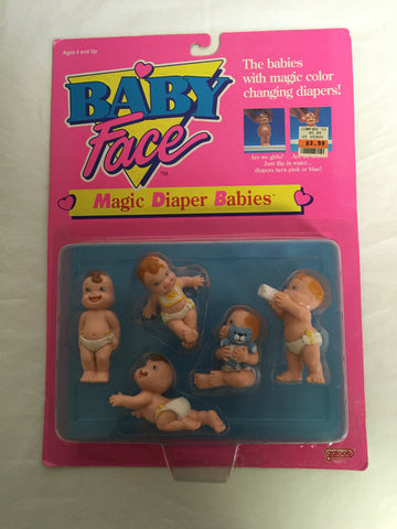 111 Galoob 1991 Baby Face Magic Diaper Babies - Colleen's Attic - 1