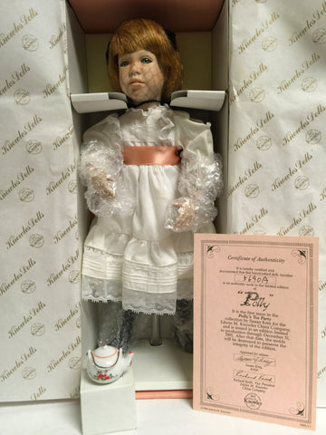 "239 Ashton Drake Polly's Tea Party Polly 15"" Tall Number 5690 A - Colleen's Attic - 1"