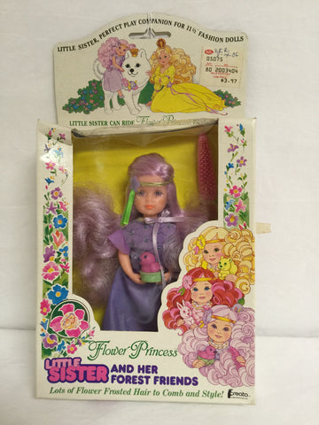 418 Creata Flower Princess Little Sister and her Forest Friends NRFB - Colleen's Attic - 1