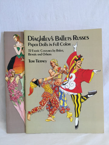 567 Paper Dolls Tom Tierney Diaghilev's Ballets Russes Pavlova & Nijinsky Lot of 2 - Colleen's Attic - 1