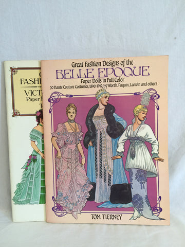 568 Paper Dolls Great Fashion Deisngs of the Victorian Era & Belle Epoque Lot of 2 - Colleen's Attic - 1