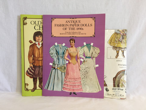 570 Paper Dolls & Paper Doll Gift Wrap Lot of 3 - Colleen's Attic - 1