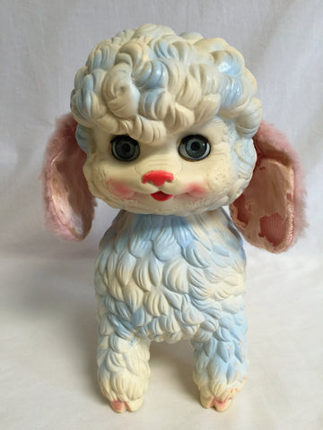 "639 Edward Mobley 1956 Squeeze Toy Lamb 10"" Tall - Colleen's Attic - 1"