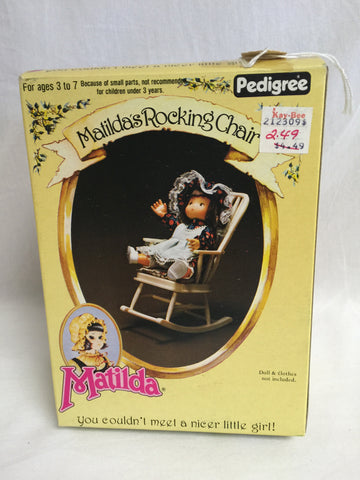 640 Pedigree Matilda doll & rocking chair  NRFB - Colleen's Attic - 1