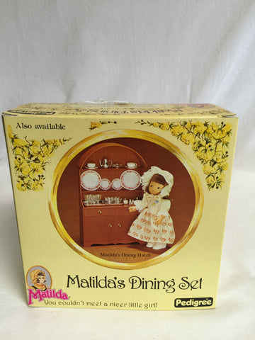 645 Pedigree Matilda's Dining Hutch & Dining Set NRFB - Colleen's Attic - 1