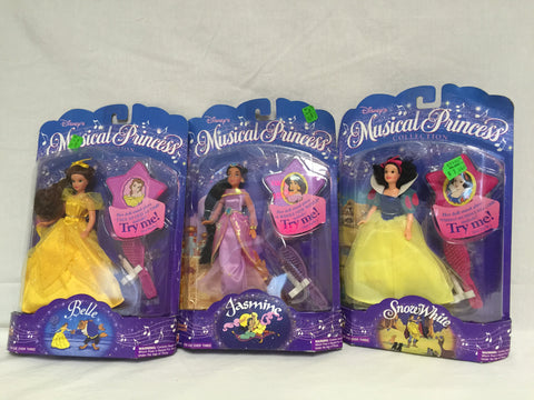 705 Mattel 1994 Disney's Musical Princess Lot of 3 NRFSB - Colleen's Attic - 1