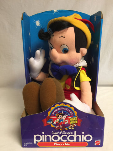 764 Mattel 1992 Disney's Pinocchio Plush Doll Boy NRFB - Colleen's Attic - 1
